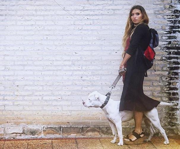 Регина Тодоренко и ее пес