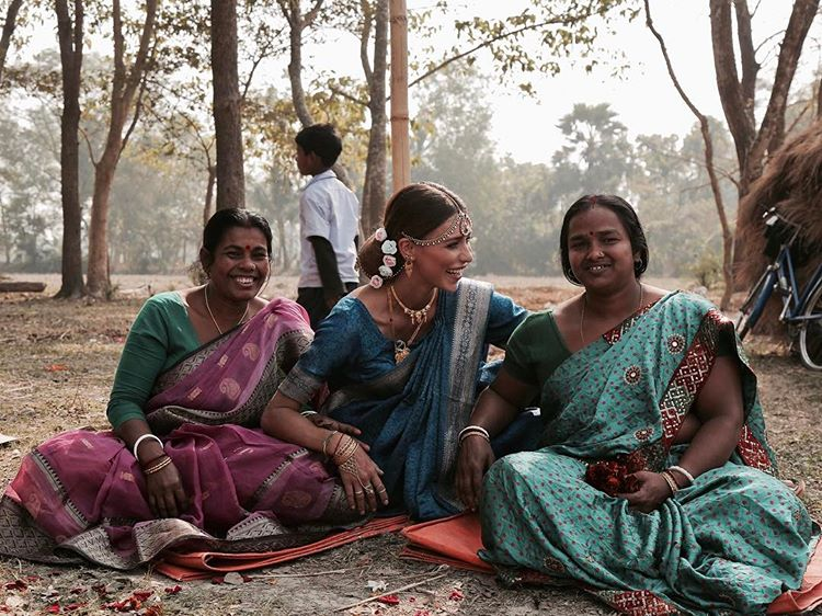 Регина Тодоренко в Индии