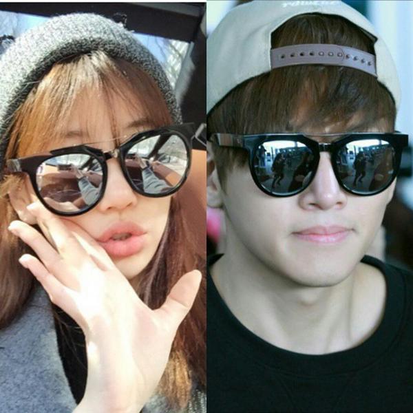 Чжи Чан Ук и Ким Чжу Ри в одинаковых очках
