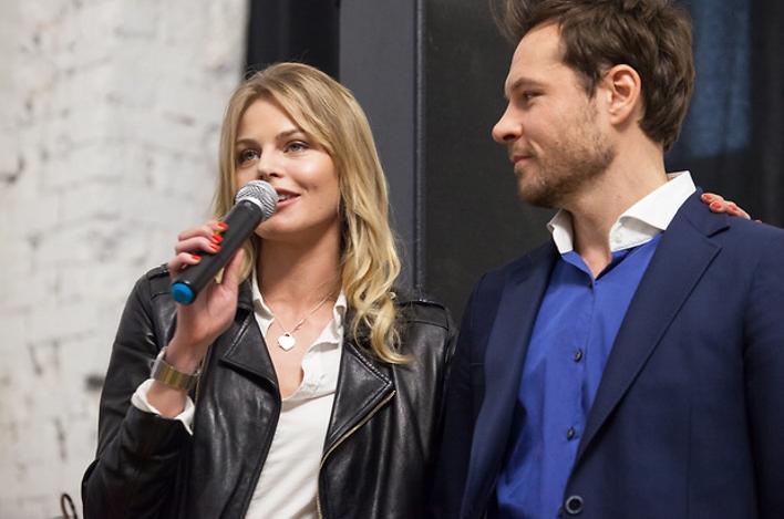Евгений Пронин и его девушка Анастасия Стежко