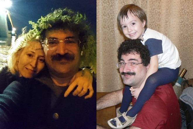 Аркадий Цукер с женой и сыном Богданом