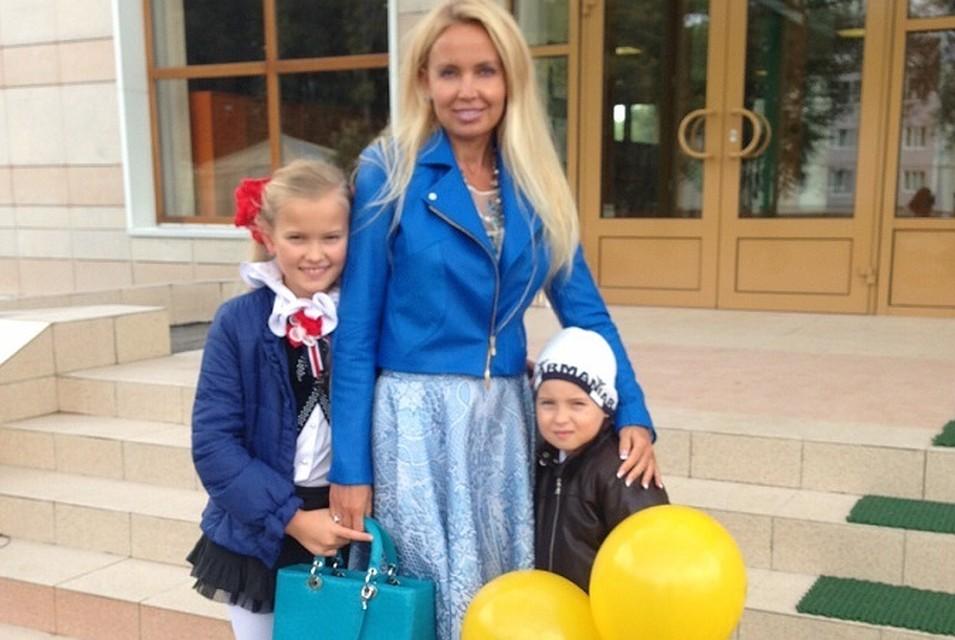 Ольгой Майдан с детьми