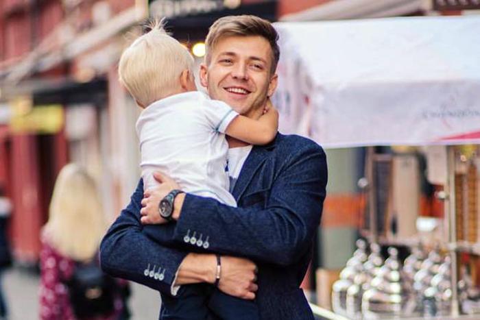 Тимофей Каратаев с сыном