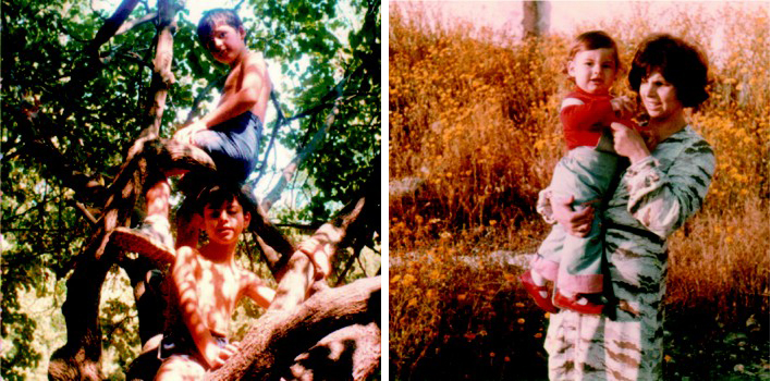 Теодор Курентзис  с мамой и братом