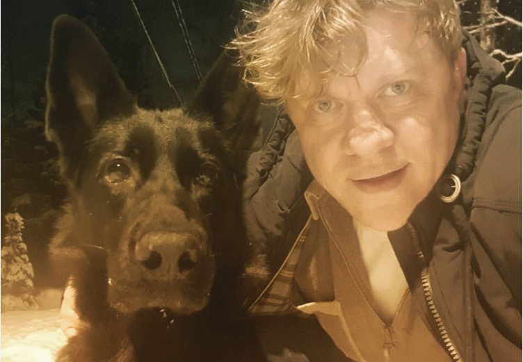 Дмитрий Блохин с собакой