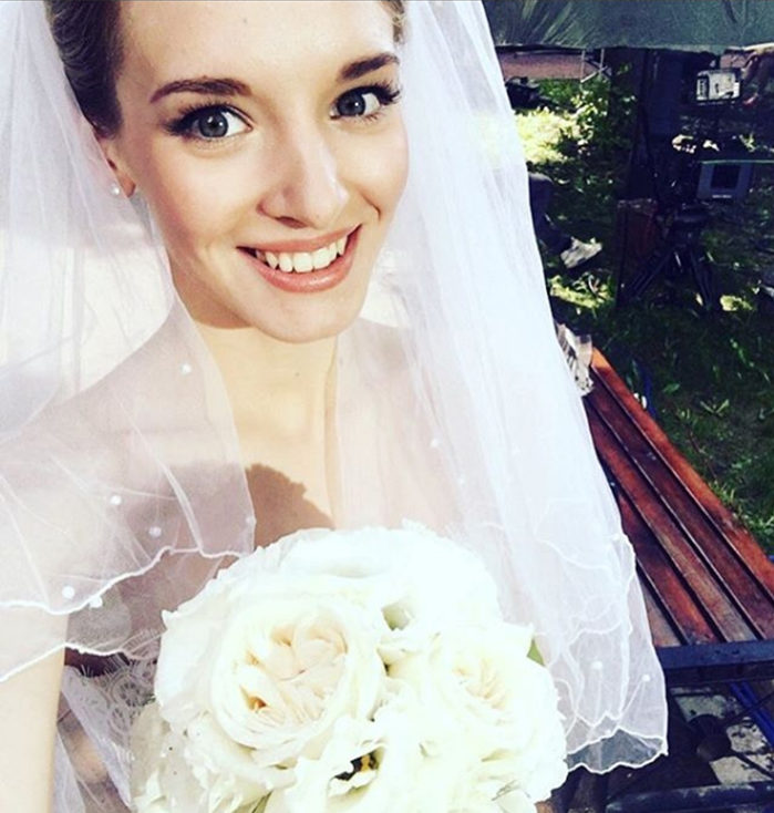 Кристина Александрова в свадебном платье