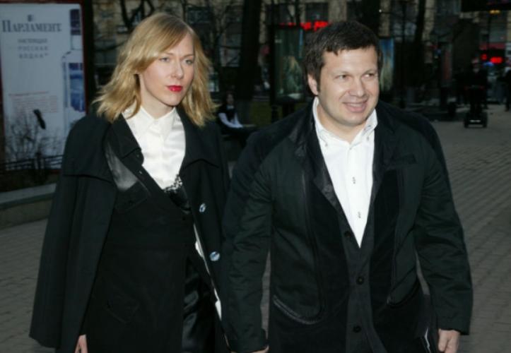 Владимир Соловьев с женой Эльгой