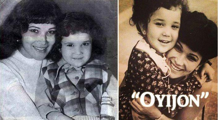 Райхон Ганиева с мамой в детстве