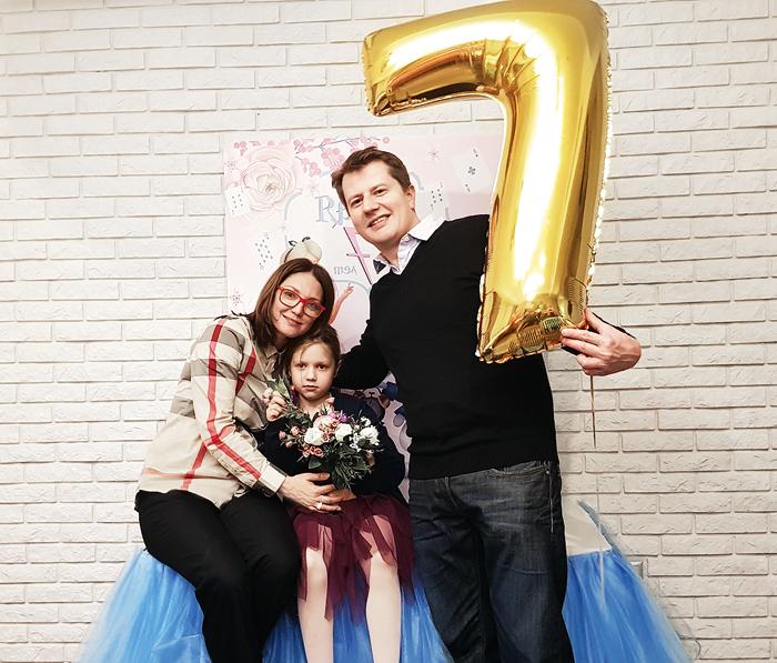 Андрей Сипин с дочкой