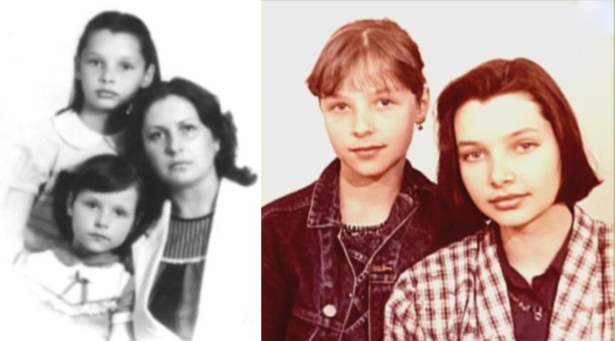 Сестры Антоновы в детстве