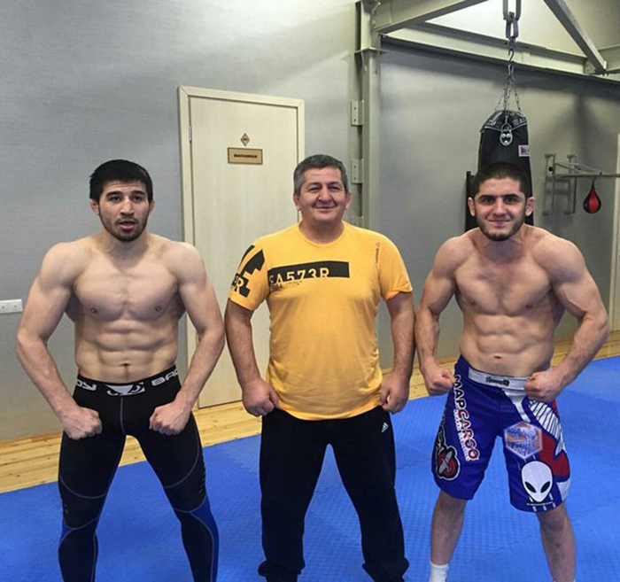 Ислам Махачев с тренером