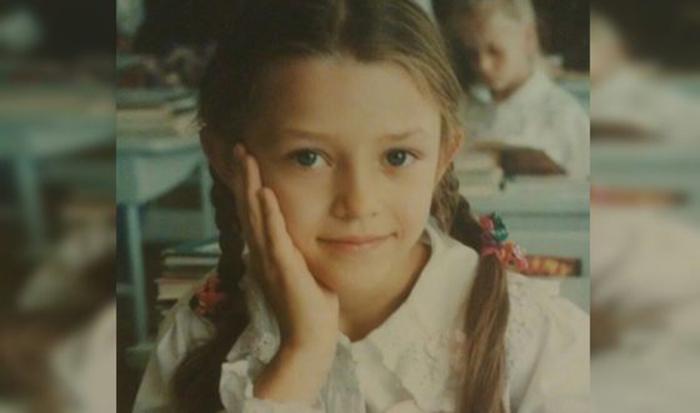 Алина Астровская в детстве