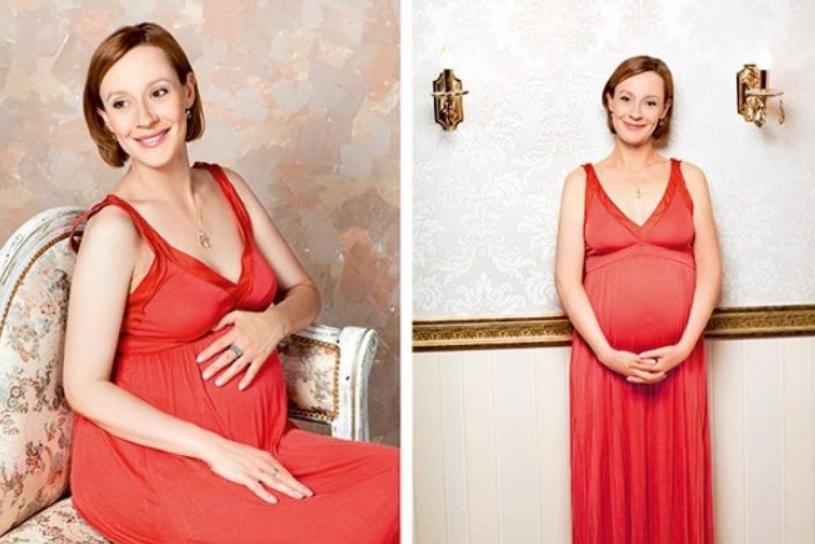 Беременная Евгения Дмитриева