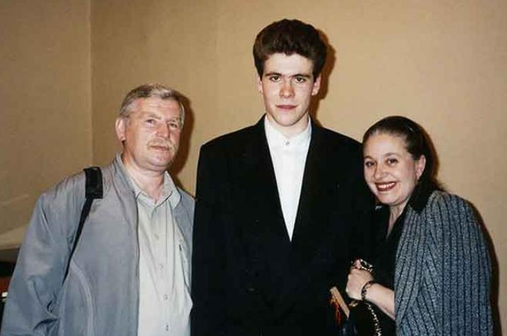 Денис Мацуев с родителями в молодости
