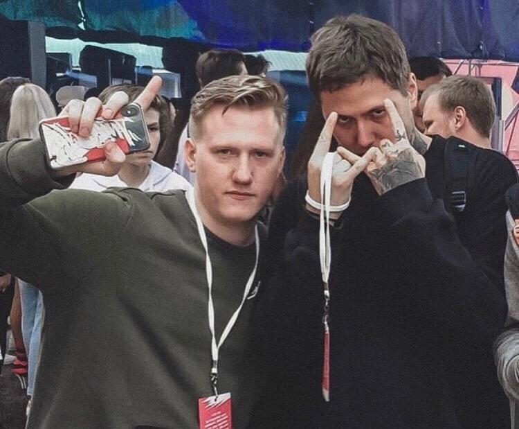 Руслан Тушенцов с Даней Кашиным