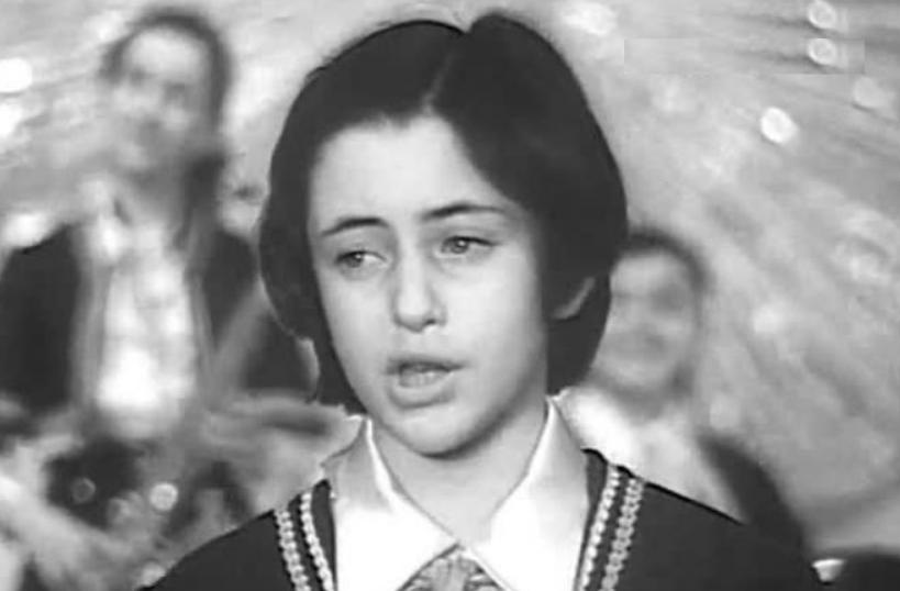 Тамара Гвердцители в детстве поет