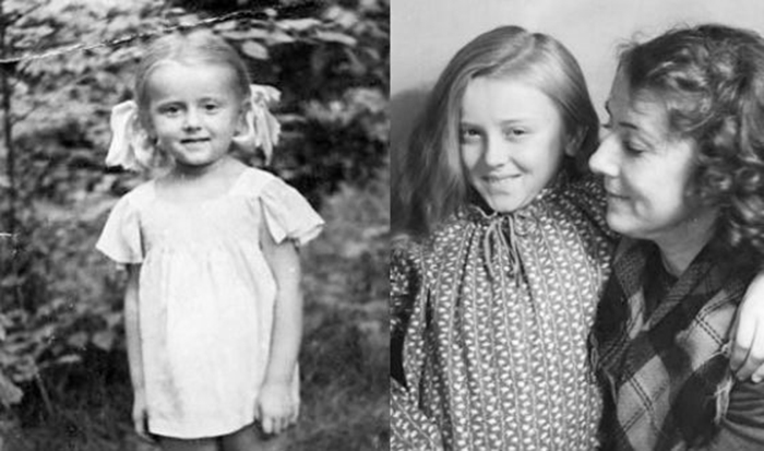Маргарита Терехова в детстве с мамой