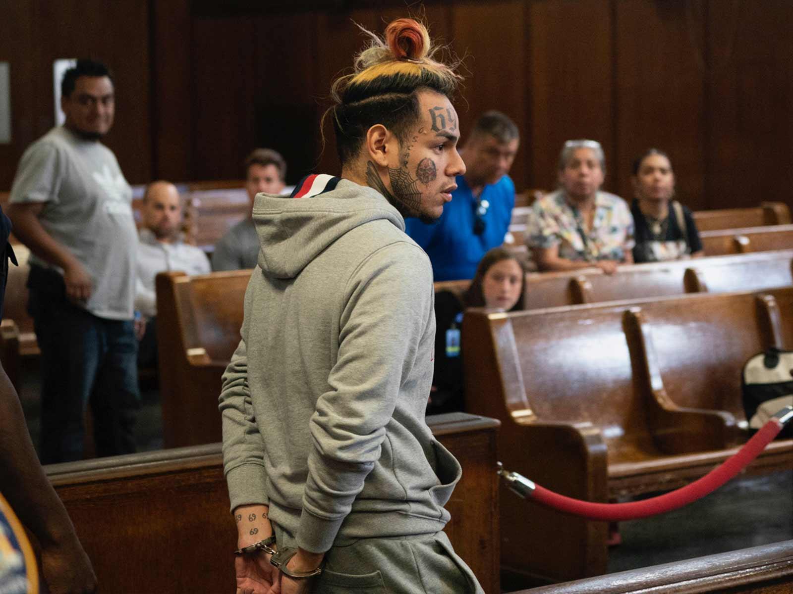 6ix9ine отбывал срок в тюрьме