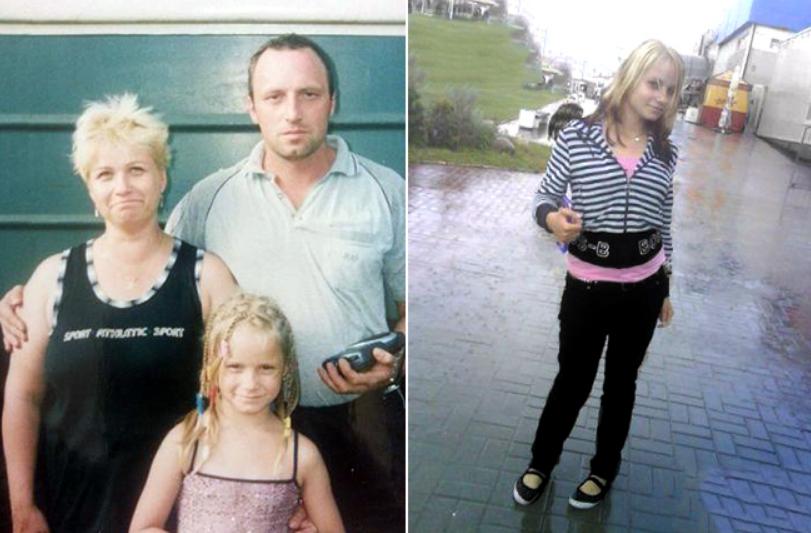 Ольга Антипова с родителями