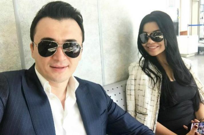 Улугбек Рахматуллаев с женой