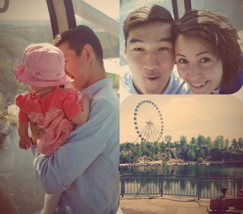 нурлан сабуров с женой и дочкой