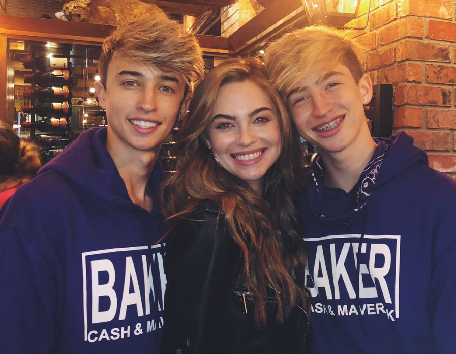 Cash Baker с братом и сестрой