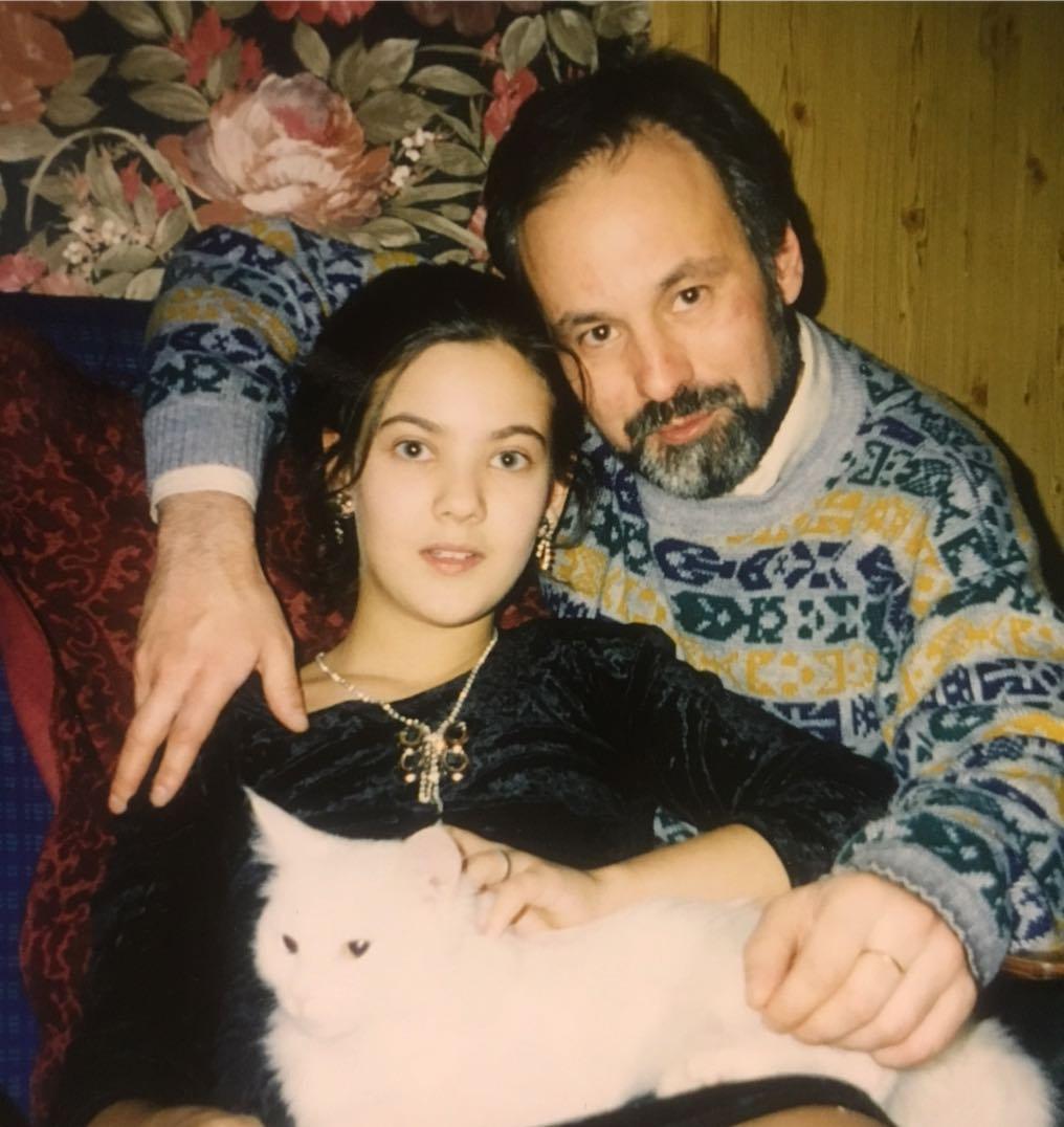 Надана Фридрихсон с отцом