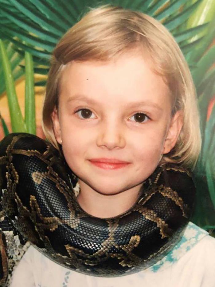 Анна Аксюк в детстве