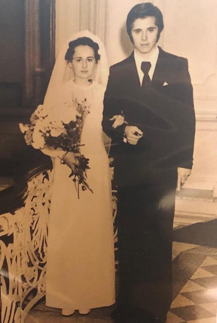 Ольга Шишова в молодости на своей свадьбе с Виктором Шишовым