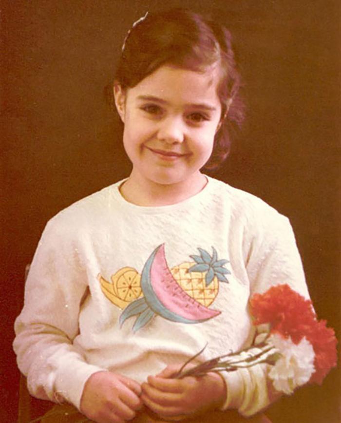 Мария Зайцева в детстве