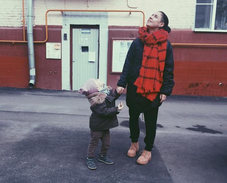 Маша Зайцева с дочкой
