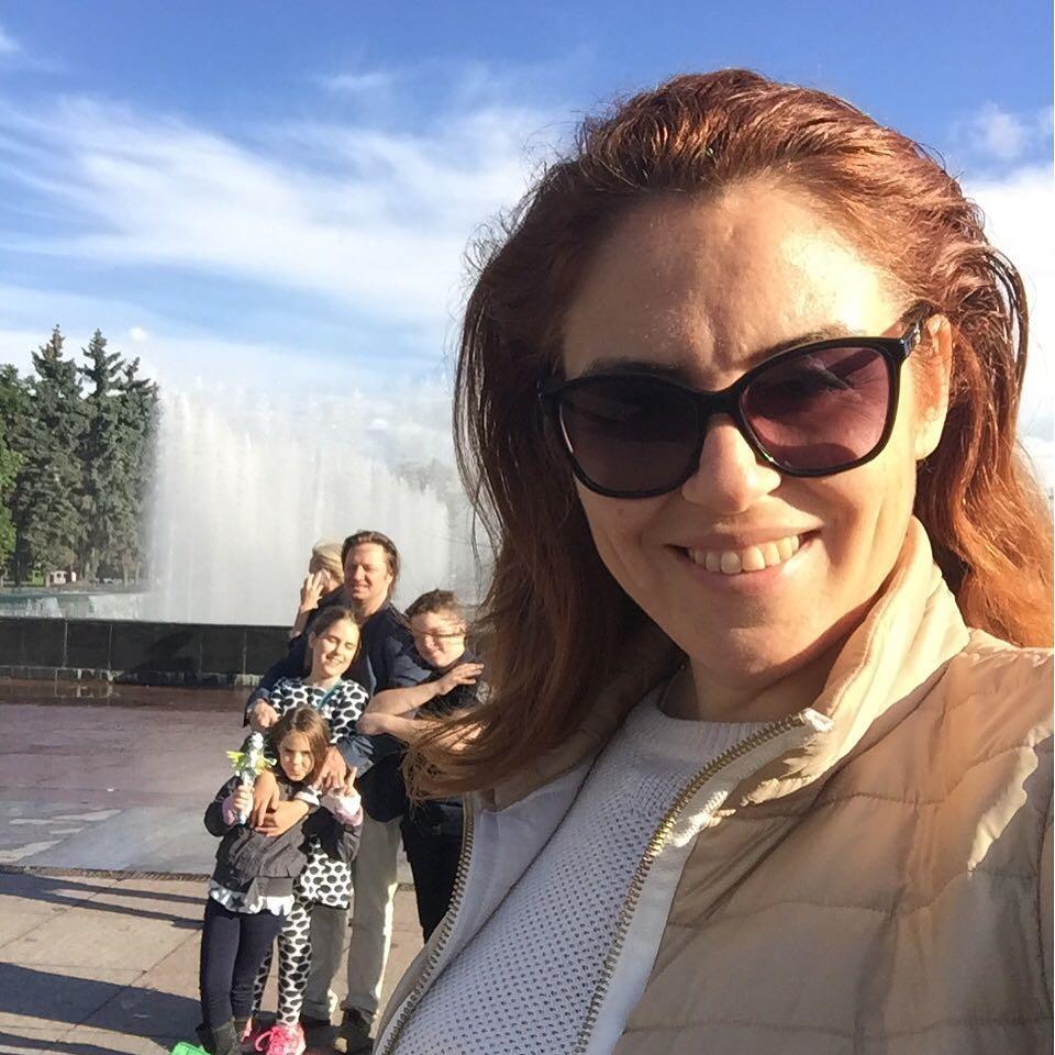 Наталья Закхайм с семьей