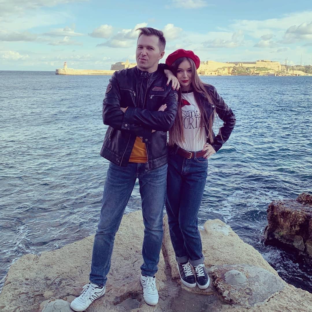 Алина Литвинова с мужем