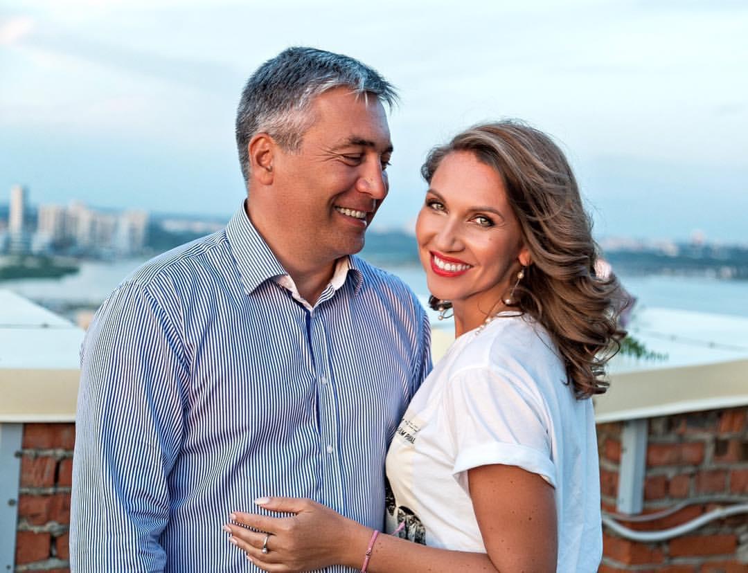 Юлия Арутюнова с мужем