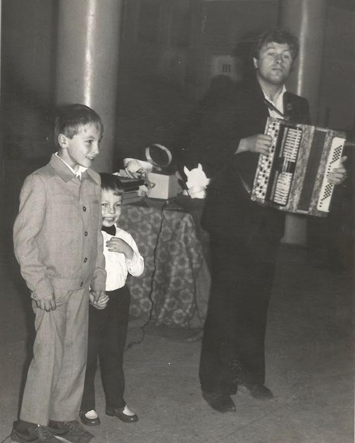 Ярослав Сумишевский с братом и отцом