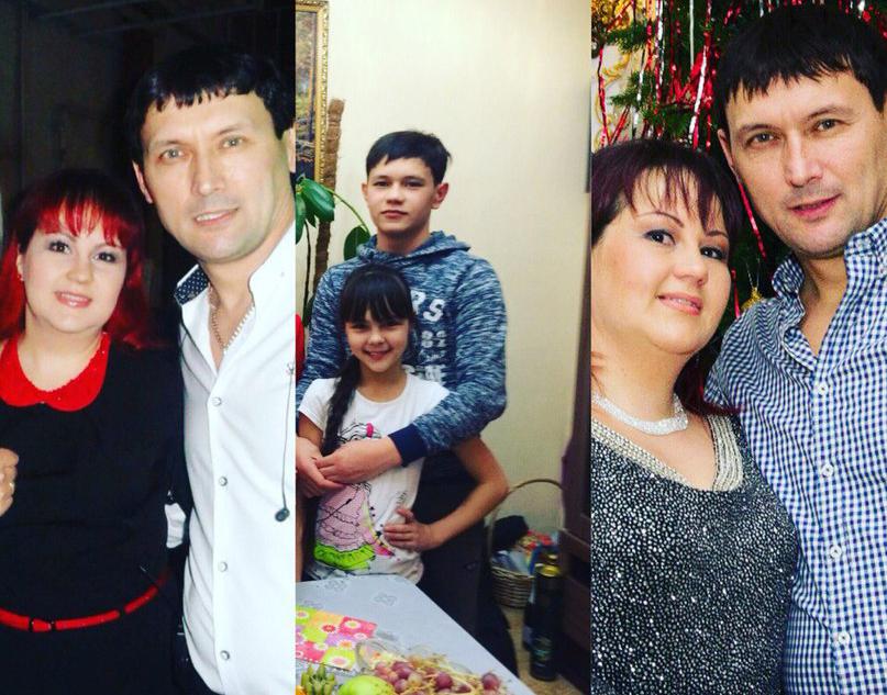 Анвар Нургалиев с женой и детьми