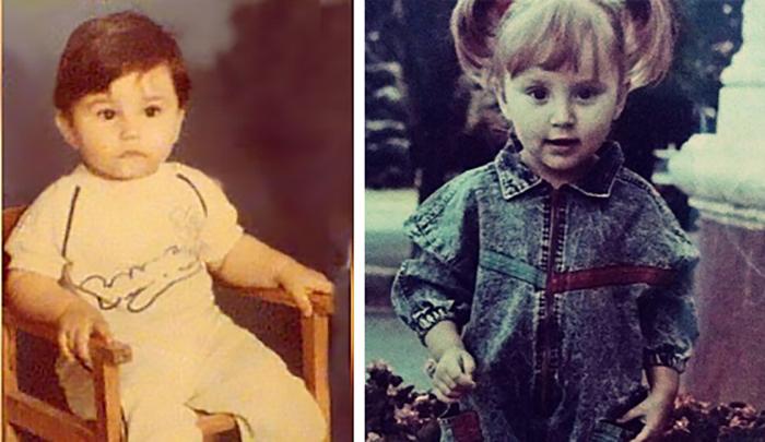Артем и Анна в детстве