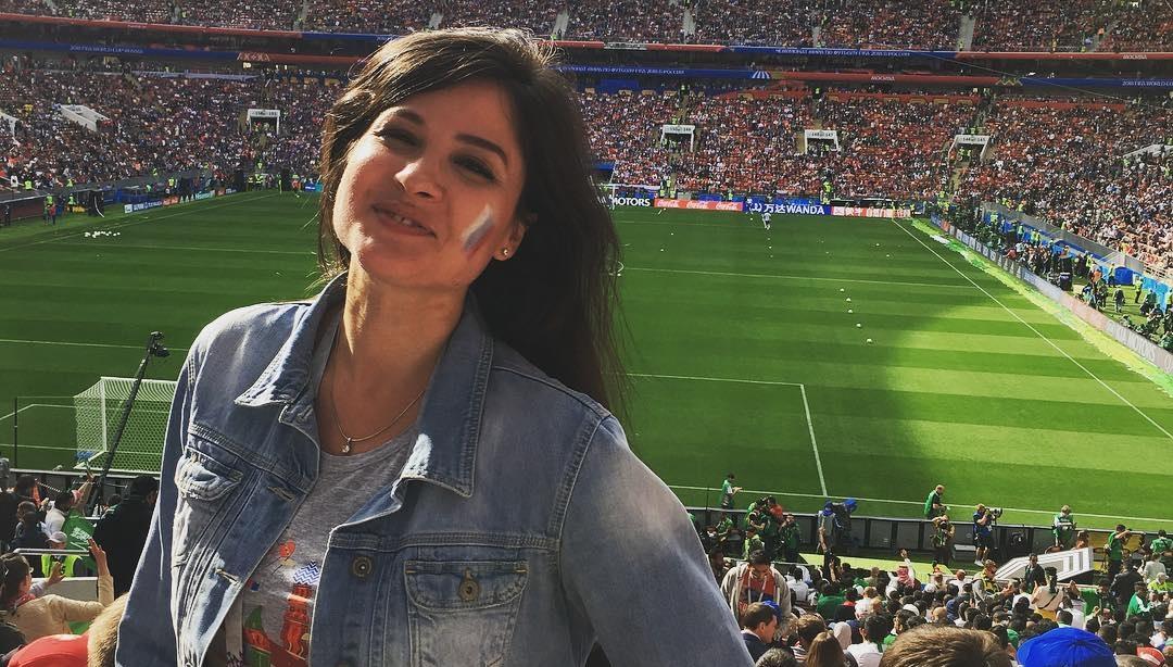 Елена Иванова на чемпионате мира по футболу