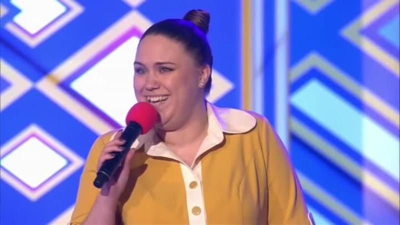 Ксения Корнева на сцене КВН