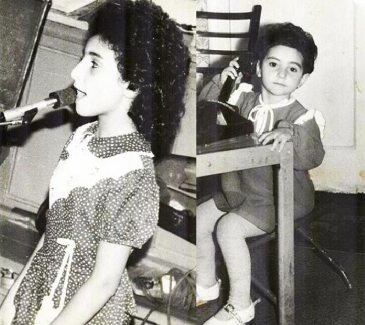 Алла Рид в детстве
