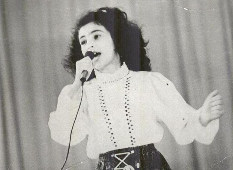 Алла Рид в детстве на конкурсах