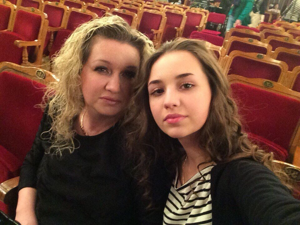 Марта Летнянчин с мамой